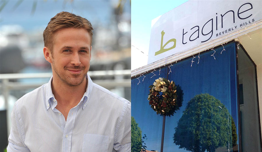 """TAGINE"" RYAN GOSLING'S MOROCCAN RESTAURANT IN BEVERLY HILLS."